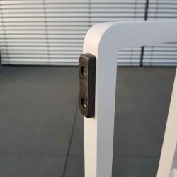 ICM Garden Lounge Garden Furniture Cassis Aluminium Teak white Base Feet