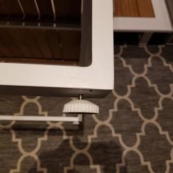 ICM Garden Lounge Muebles de jardín Cannes Aluminio Teca Pies bajos blancos