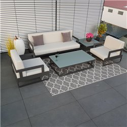 garden lounge garden furniture Marseille aluminium anthracite