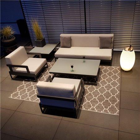 Gartenlounge Gartenmöbel  Lounge Set Marseille Aluminium Anthrazit