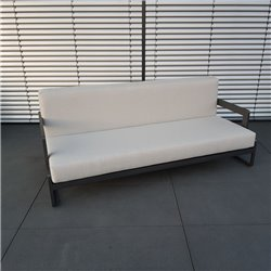 ICM garden lounge furniture Marseille aluminium anthracite 3 seater