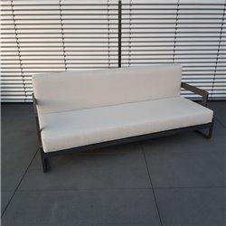 Muebles de salón de jardín ICM Marsella aluminio antracita 3 plazas