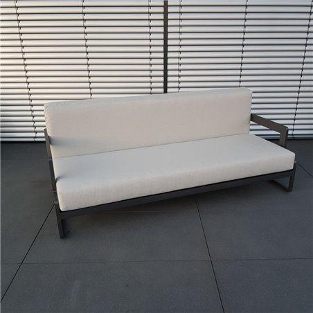 ICM garden lounge furniture Marseille aluminium anthracite 3 seater
