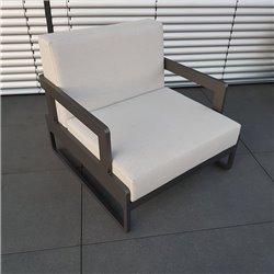 ICM jardín salón muebles de salón Marsella aluminio antracita 1 plazas