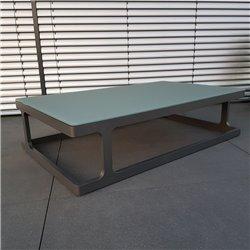 ICM Gartentisch Loungetisch Gartenmöbel Marseille Aluminium  Anthrazit großer Tisch