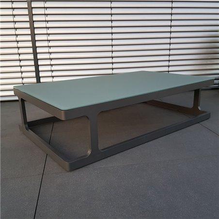 ICM mesa de jardín mesa de salón muebles de jardín Marsella aluminio antracita mesa grande