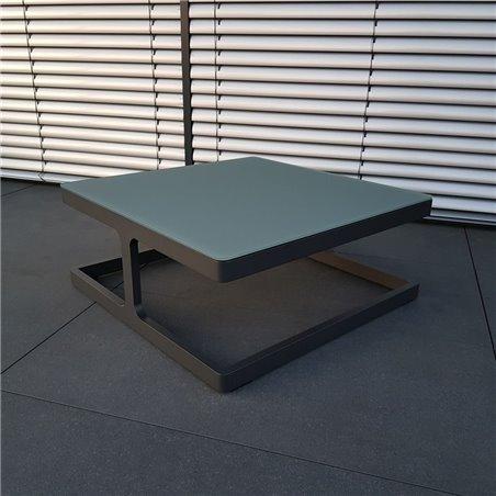 ICM mesa de jardín mesa de salón muebles de jardín Marsella aluminio antracita mesa pequeña mesa de esquina mesa de centro