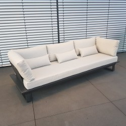 ICM garden lounge furniture Menton aluminium anthracite 3 seater