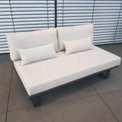 ICM garden lounge terrace furniture Menton aluminium anthracite 2 seater