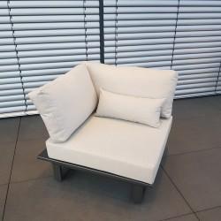 ICM garden lounge lounge furniture Menton aluminum anthracite 1 seater armchair module