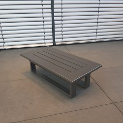 ICM garden table lounge table garden furniture Menton aluminium anthracite small corner table
