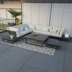 Garden lounge garden furniture lounge set Menton aluminum anthracite modular module outoor exclusive luxury Lounge set