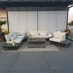 ICM garden lounge outdoor furniture Menton aluminium anthracite