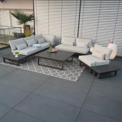ICM garden lounge garden furniture Menton aluminium anthracite