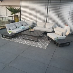 ICM garden lounge garden furniture Menton aluminium anthracite Lounge module set