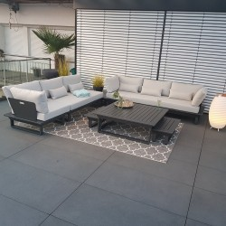 garden lounge garden furniture Menton aluminium anthracite