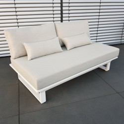 ICM garden lounge terasse furniture Menton aluminium white 2 seater