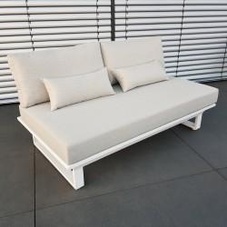 ICM Gartenlounge Loungemöbel Menton Aluminium weiß 2 Sitzer