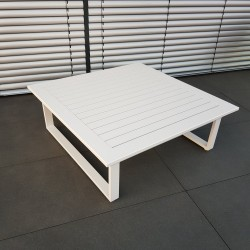 ICM garden table lounge table garden furniture Menton aluminium white large table