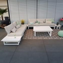 ICM garden lounge outdoor furniture Menton aluminium white