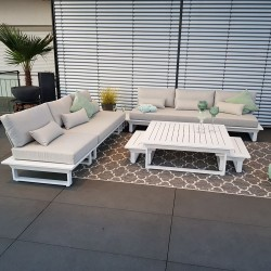 garden lounge garden furniture Menton aluminium white