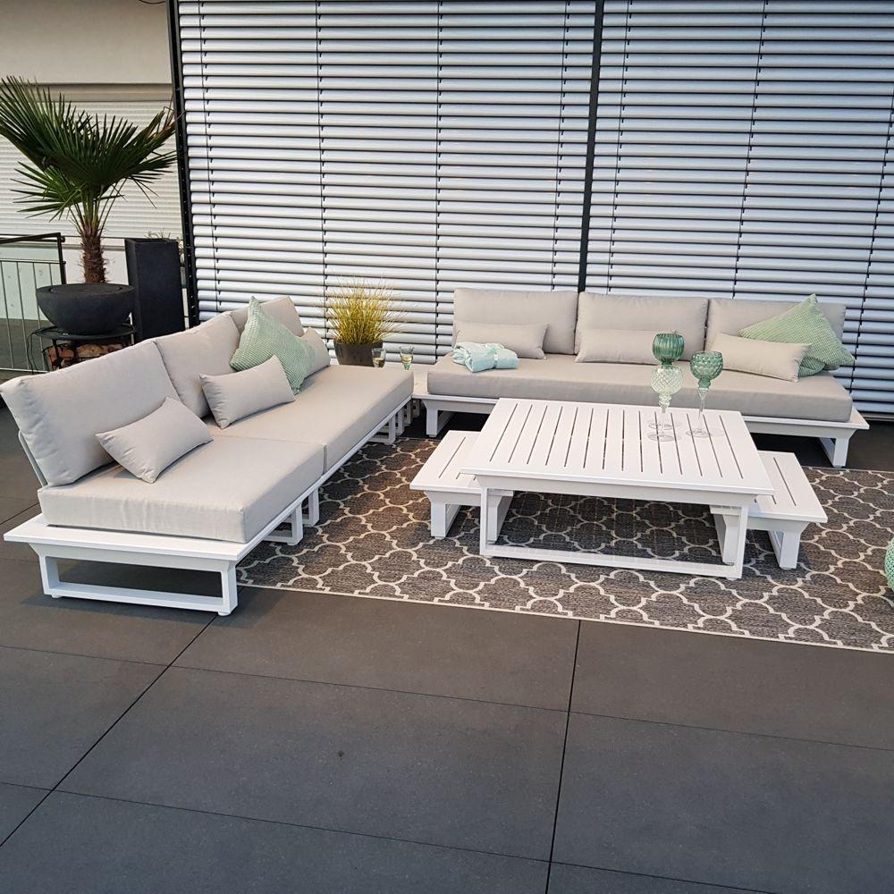garden lounge garden furniture Menton aluminium white