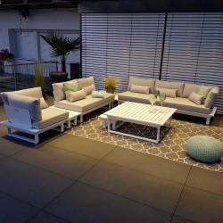garden lounge garden furniture lounge set Menton aluminium white