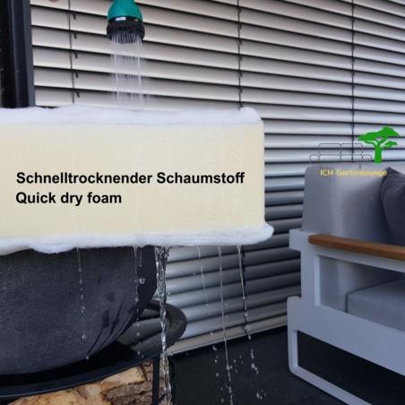 ICM Gartenlounge Gartenmöbel Menton Aluminium weiß Quick dry foam