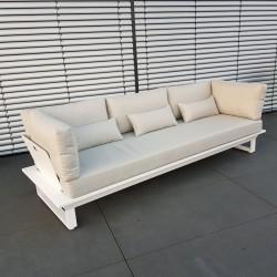 ICM garden lounge lounge furniture St. Tropez aluminum white 3 seater modular module