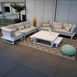 garden lounge garden furniture lounge set St. Tropez aluminium white