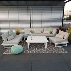 ICM garden lounge garden furniture St. Tropez aluminium white