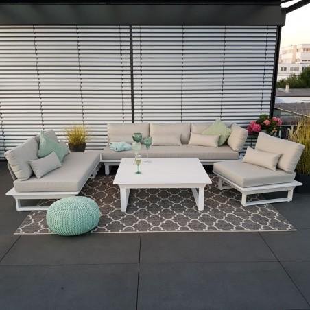 ICM garden lounge garden furniture St. Tropez aluminium white Lounge module set luxury exclusive weatherproof outdoor