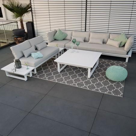 ICM garden lounge muebles de jardín St. Tropez juego de módulos de exterior de aluminio blanco