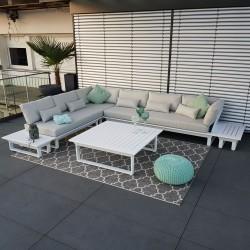 ICM garden lounge outdoor furniture St. Tropez aluminum white module luxury exclusive modular lounge set garden