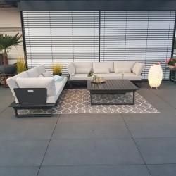 Salón de jardín muebles de jardín conjunto de salón Módulo modular de aluminio antracita de St.Tropez, esquina exclusiva de lujo
