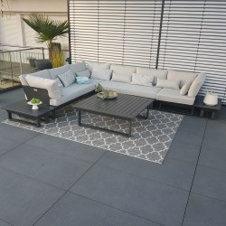 Salón de jardín ICM muebles de jardín Módulo de salón St. Tropez antracita Muebles de lujo exclusivos para exteriores