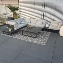 ICM jardín lounge muebles de exterior St. Tropez aluminio antracita lounge muebles alu módulo modular exclusivo
