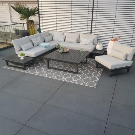 ICM garden lounge muebles de jardín St. Tropez aluminio antracita lounge muebles módulo de aluminio modular exclusivo