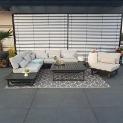 ICM garden lounge muebles de jardín módulo de muebles de salón St. Tropez antracita modular alu lujo exterior