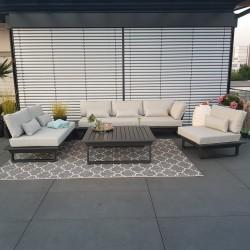 ICM garden lounge muebles de jardín St. Tropez aluminio antracita módulo modular lounge set exterior