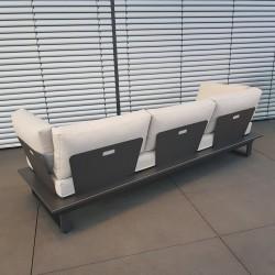 ICM garden lounge lounge furniture St. Tropez aluminio antracita 3 plazas módulo de sofá de lujo al aire libre repelente al agua