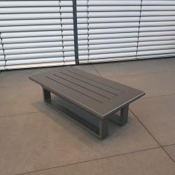 ICM mesa de jardín mesa de salón muebles de jardín St. Tropez aluminio antracita pequeña mesa auxiliar mesa de centro