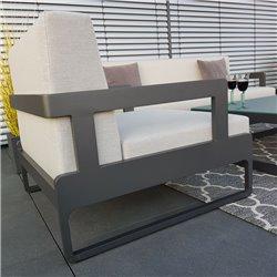Garden lounge set sillón antracita Marsella