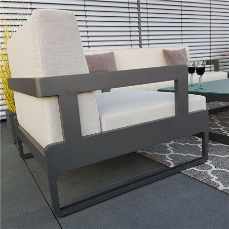 Garden lounge set Marseille anthracite armchair