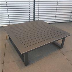 ICM mesa de jardín mesa de salón muebles de jardín mesa grande de aluminio antracita Grenoble