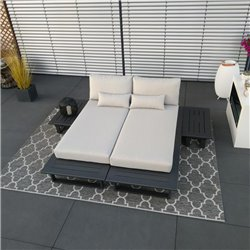 ICM garden lounge lounge furniture Grenoble aluminium alu anthracite module set muebles de jardín Tumbona tumbona