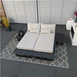 ICM salon de jardin salon meubles Grenoble aluminium alu anthracite module ensemble mobilier de jardin Bain de soleil