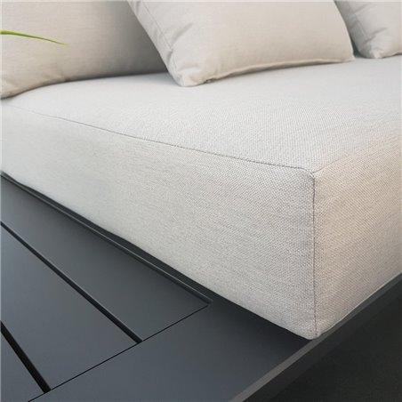 ICM Garden Lounge Muebles de jardín Aluminio Grenoble Aluminio Antracita espuma de secado rápido
