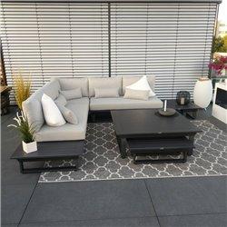 Salón de jardín muebles de jardín Grenoble aluminio módulo antracita lujo exclusivo