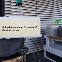 ICM garden lounge muebles de jardín Grenoble aluminio antracita Espuma de secado rápido